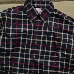 Brooks brothers men's checkered shirt long sleeve